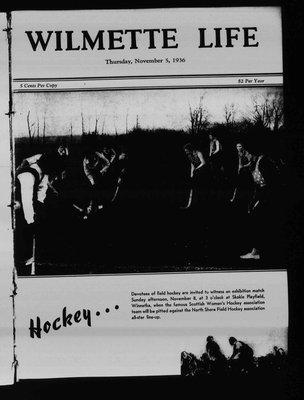 Wilmette Life (Wilmette, Illinois), 5 Nov 1936