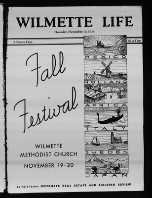 Wilmette Life (Wilmette, Illinois), 19 Nov 1936
