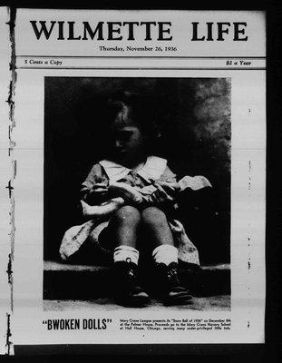 Wilmette Life (Wilmette, Illinois), 26 Nov 1936
