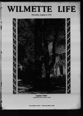 Wilmette Life (Wilmette, Illinois), 4 Aug 1938