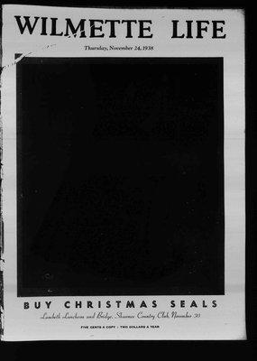 Wilmette Life (Wilmette, Illinois), 24 Nov 1938