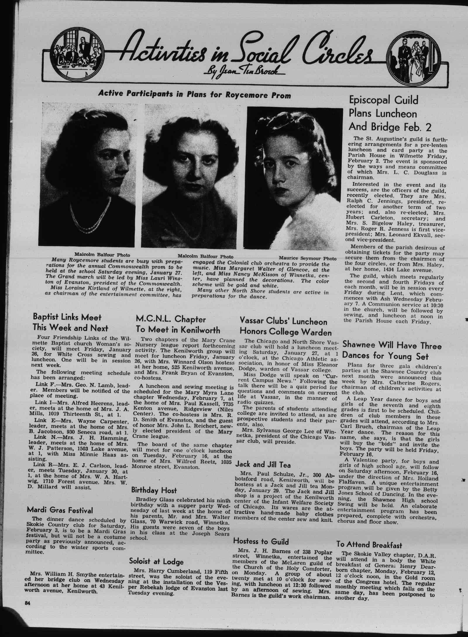 Wilmette Life (Wilmette, Illinois), 25 Jan 1940