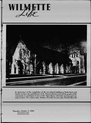 Wilmette Life (Wilmette, Illinois), 5 Oct 1939