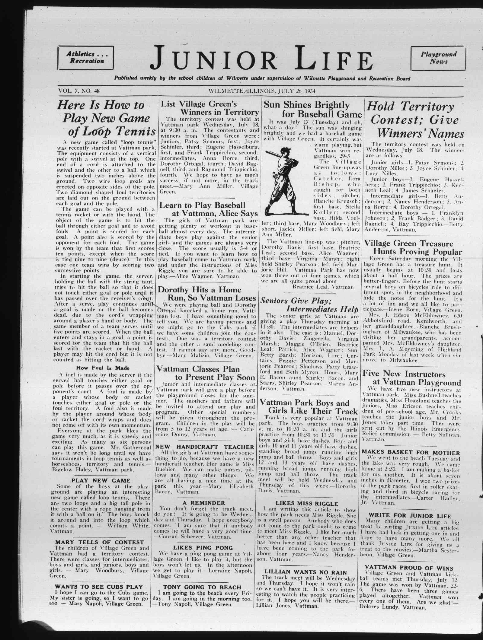 Wilmette Life (Wilmette, Illinois), 26 Jul 1934