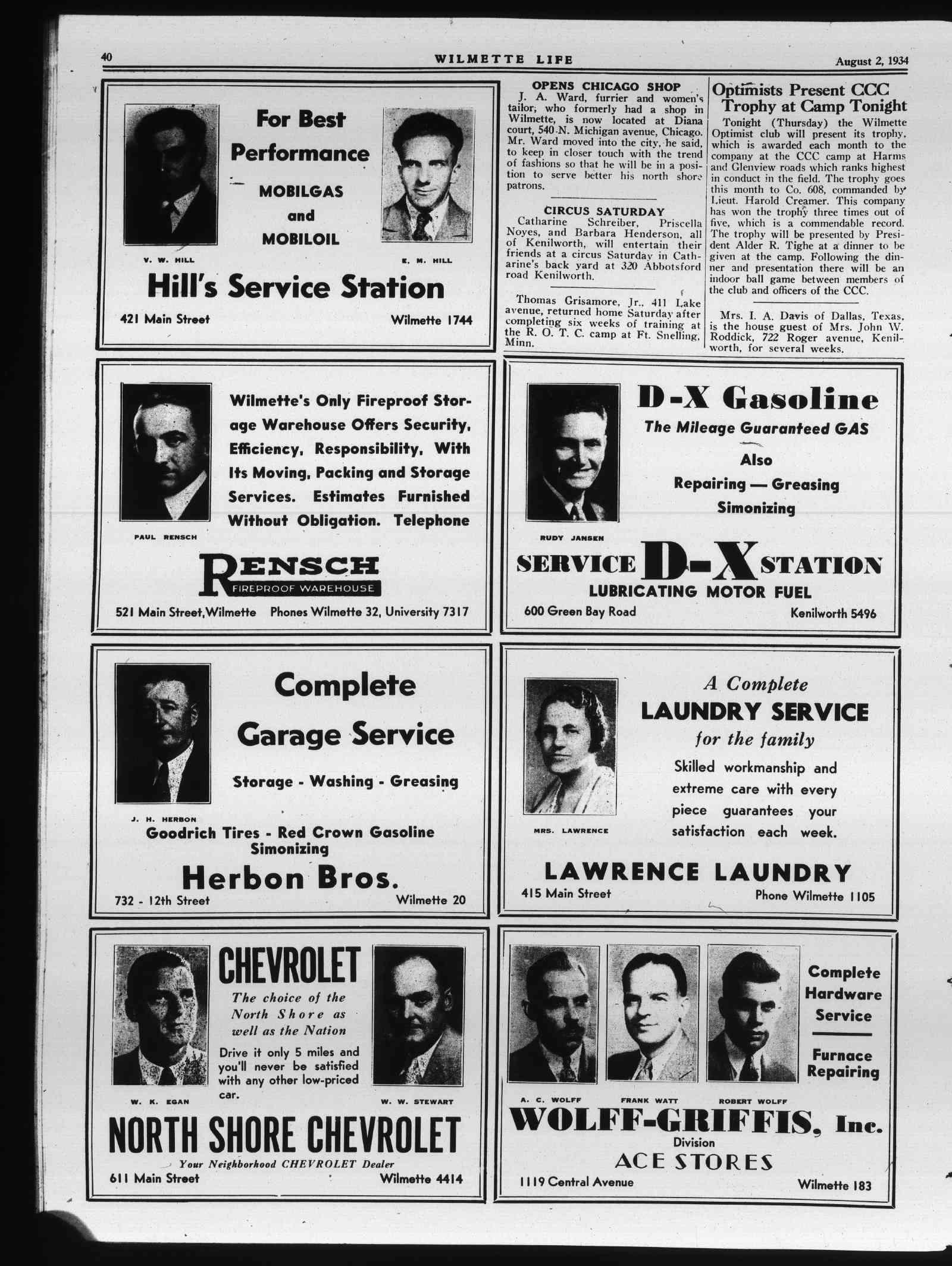 Wilmette Life (Wilmette, Illinois), 2 Aug 1934