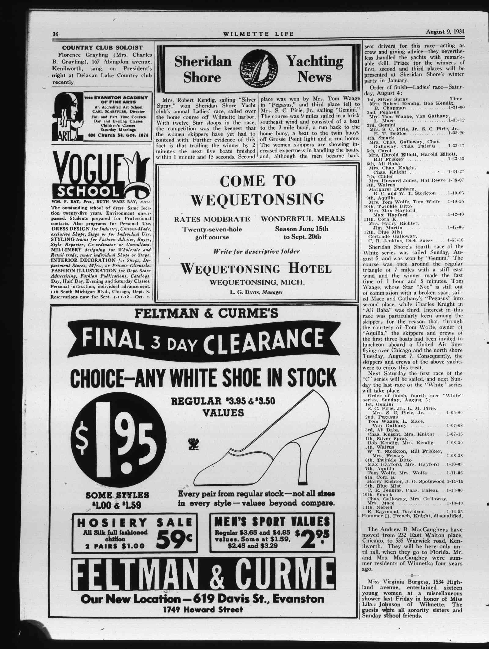 Wilmette Life (Wilmette, Illinois), 9 Aug 1934