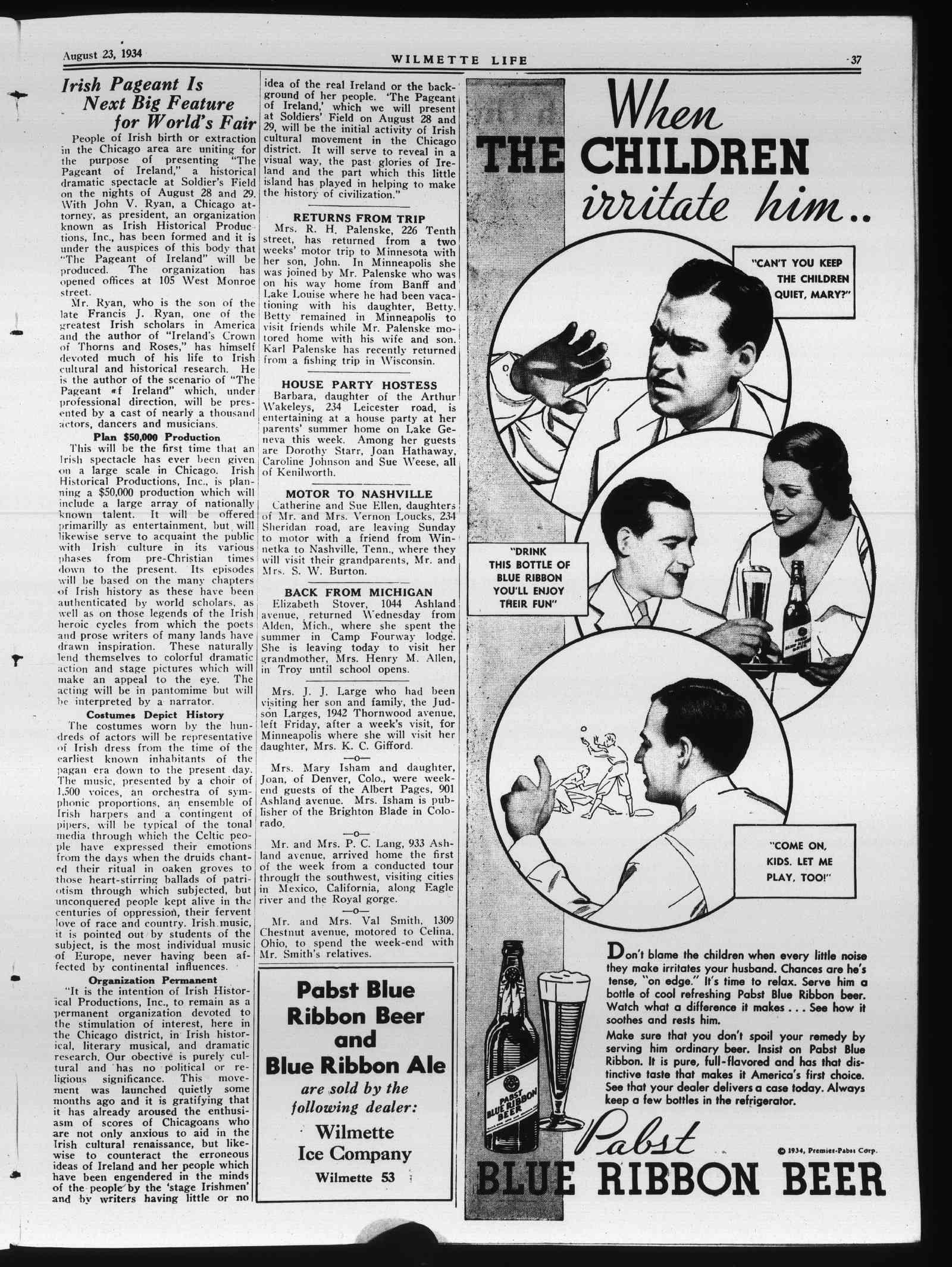 Wilmette Life (Wilmette, Illinois), 23 Aug 1934