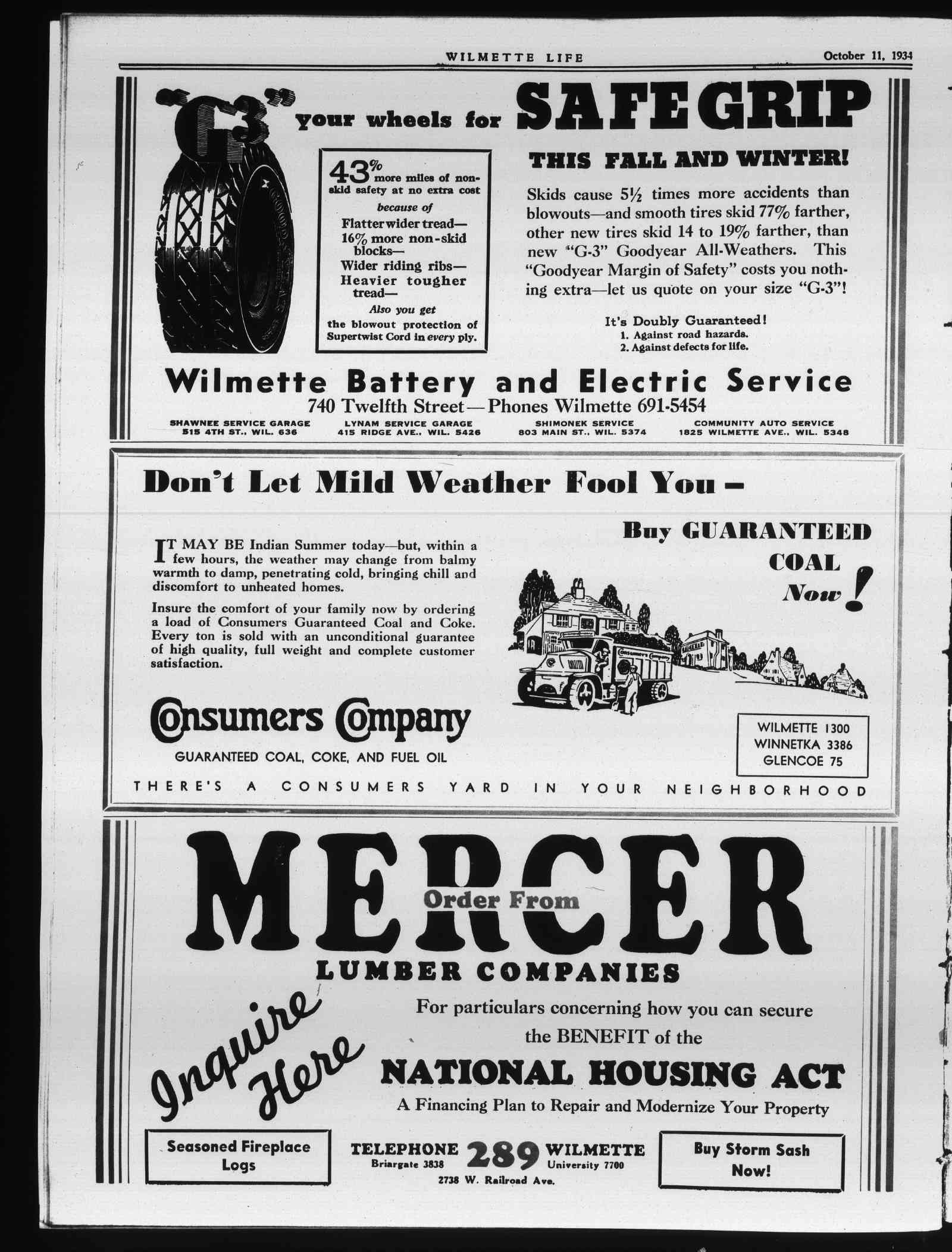 Wilmette Life (Wilmette, Illinois), 11 Oct 1934