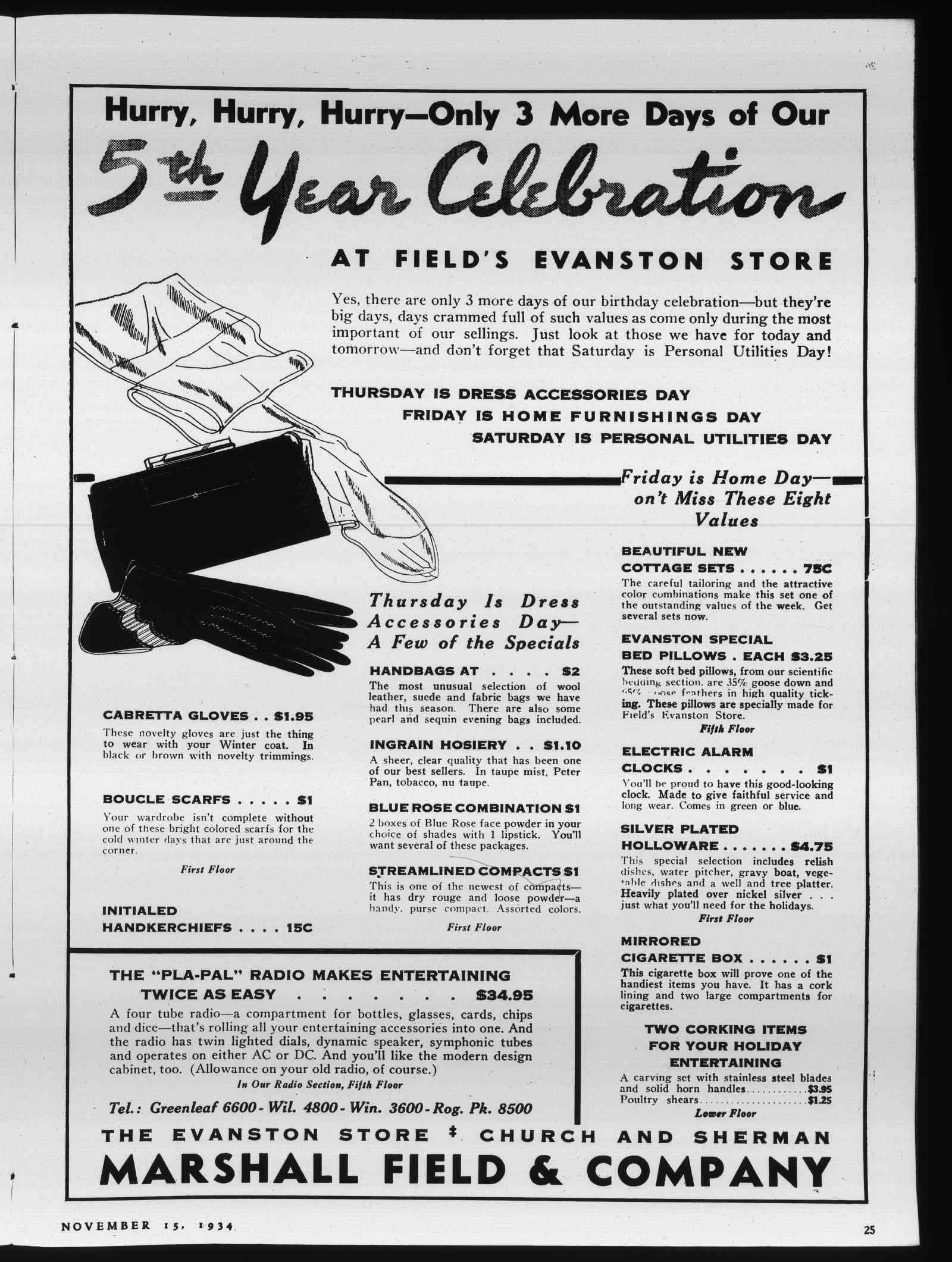 Wilmette Life (Wilmette, Illinois), 15 Nov 1934
