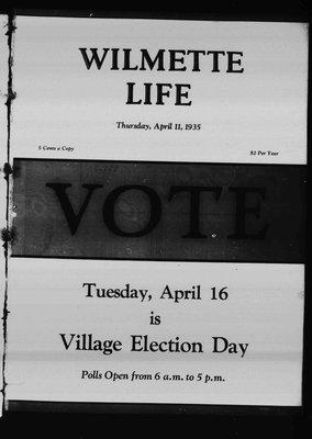 Wilmette Life (Wilmette, Illinois), 11 Apr 1935