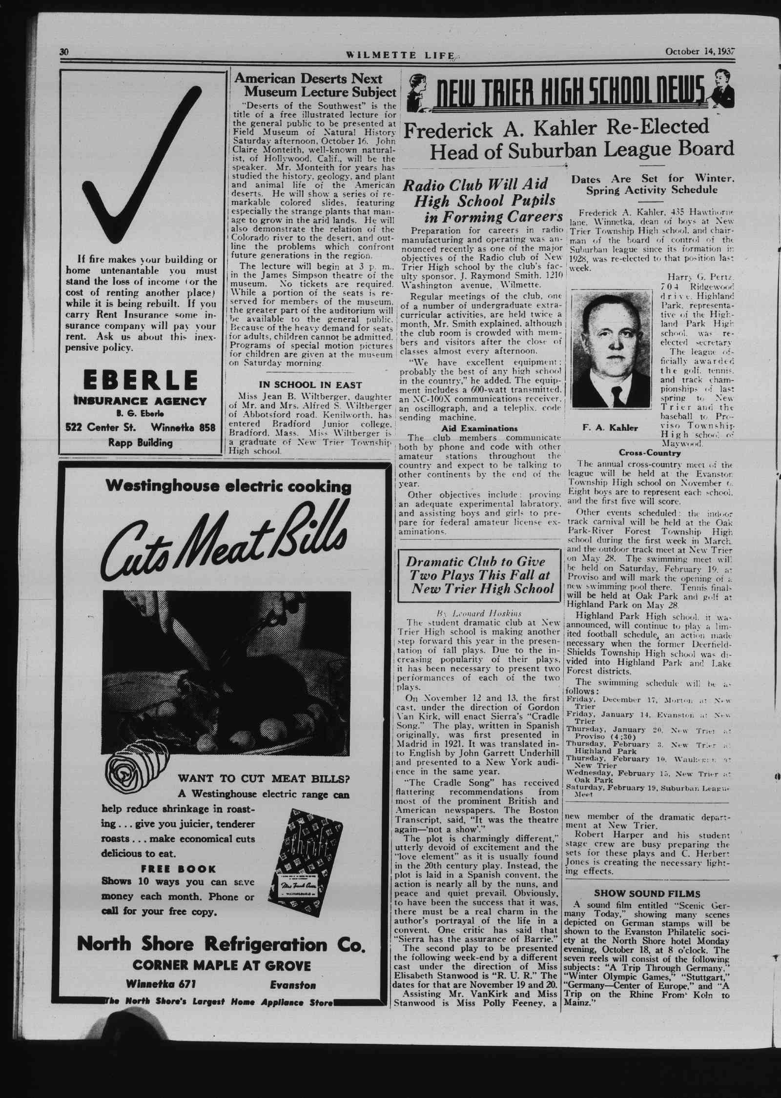 Wilmette Life (Wilmette, Illinois), 14 Oct 1937