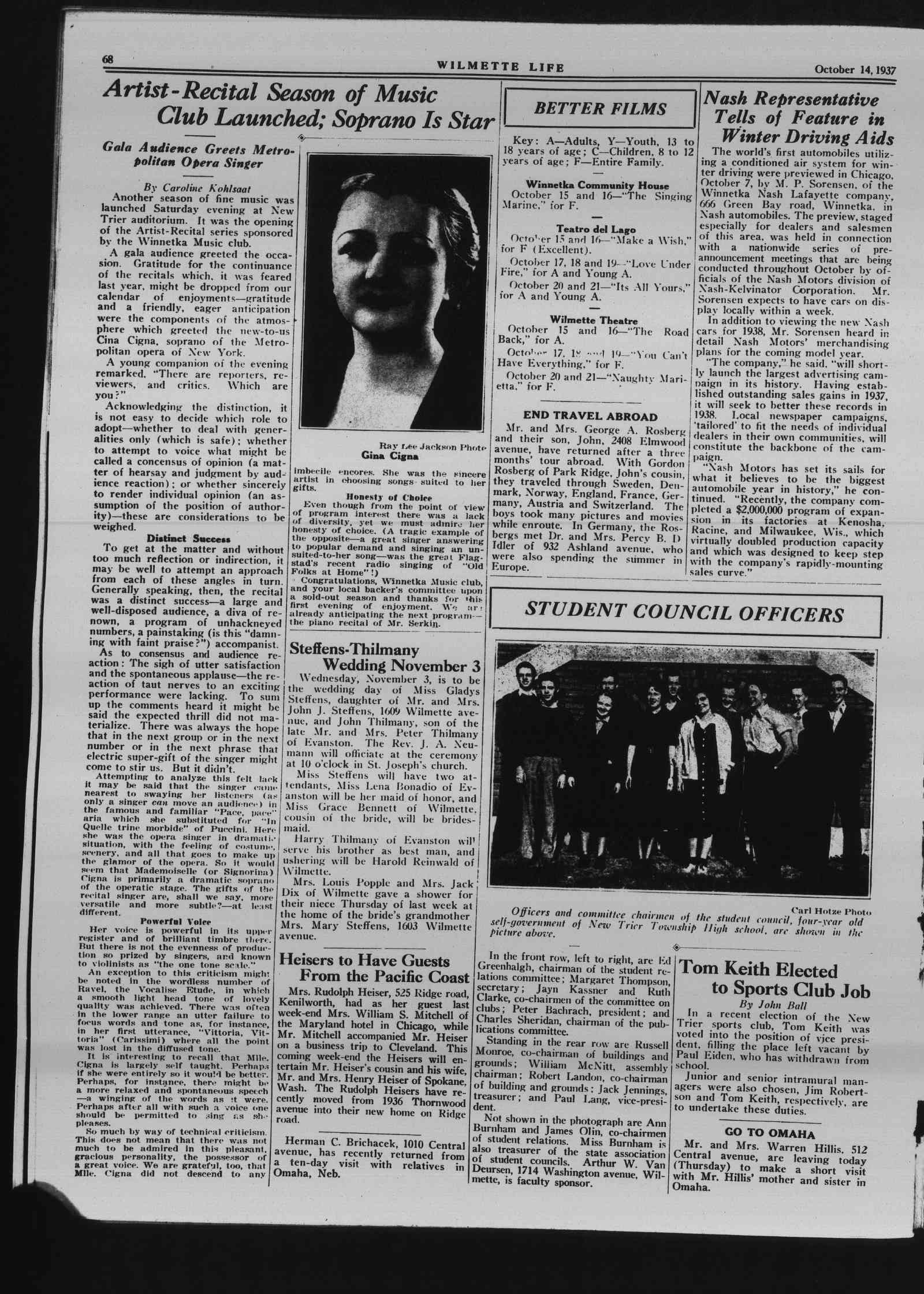 Wilmette Life (Wilmette, Illinois), 14 Oct 1937