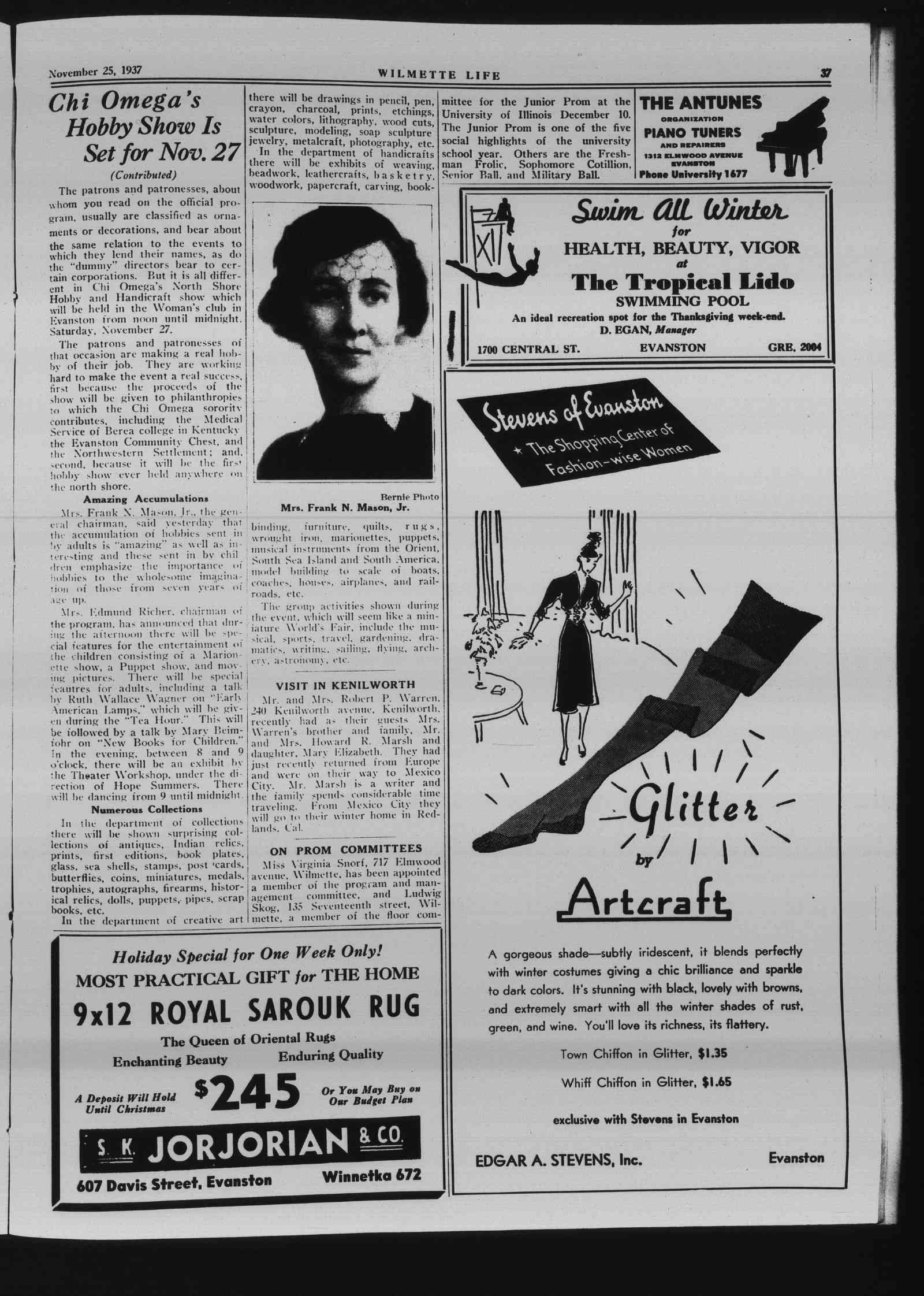 Wilmette Life (Wilmette, Illinois), 25 Nov 1937