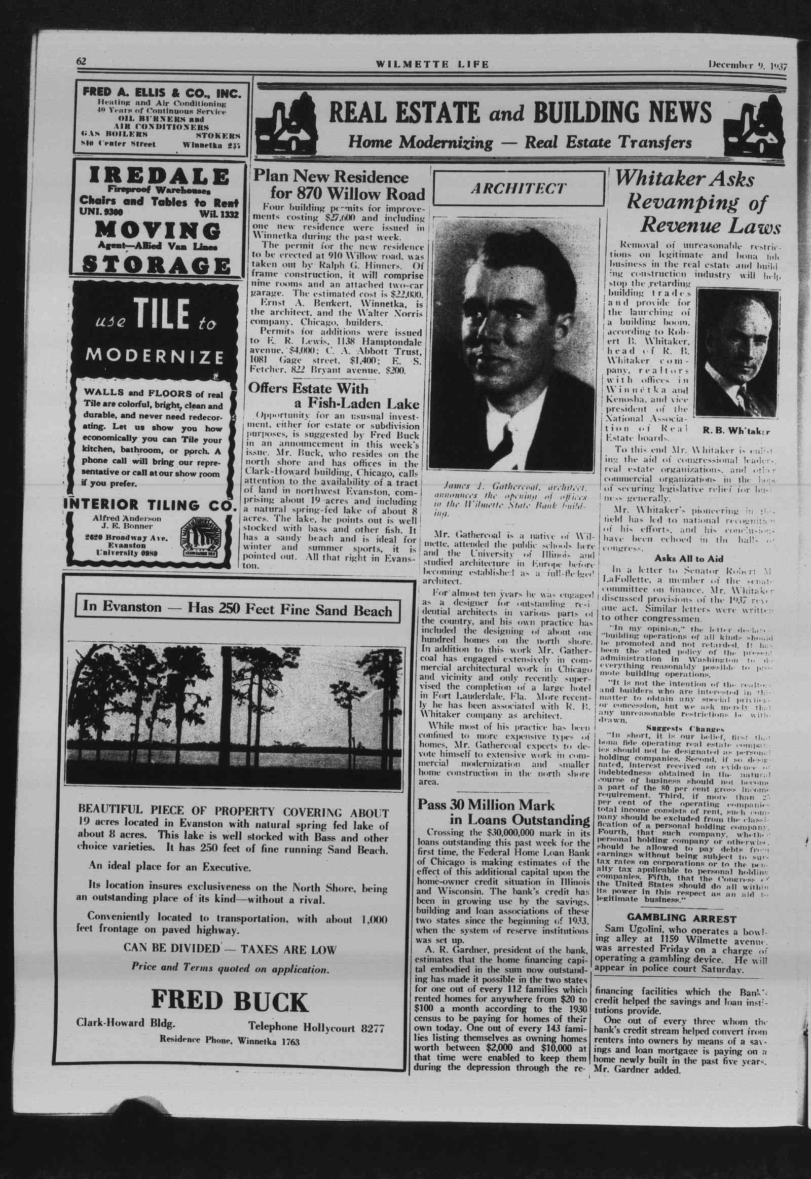 Wilmette Life (Wilmette, Illinois), 9 Dec 1937