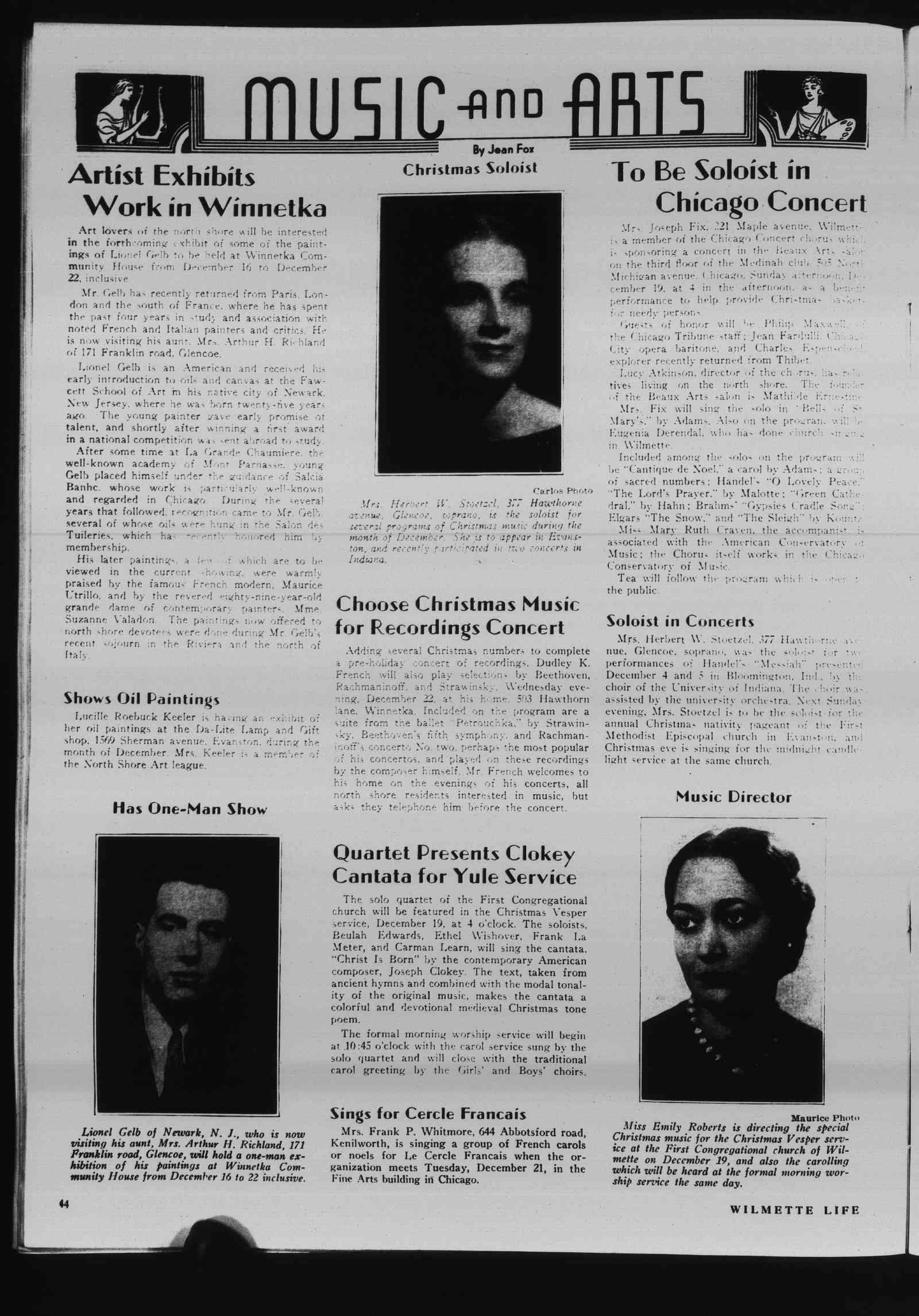Wilmette Life (Wilmette, Illinois), 16 Dec 1937