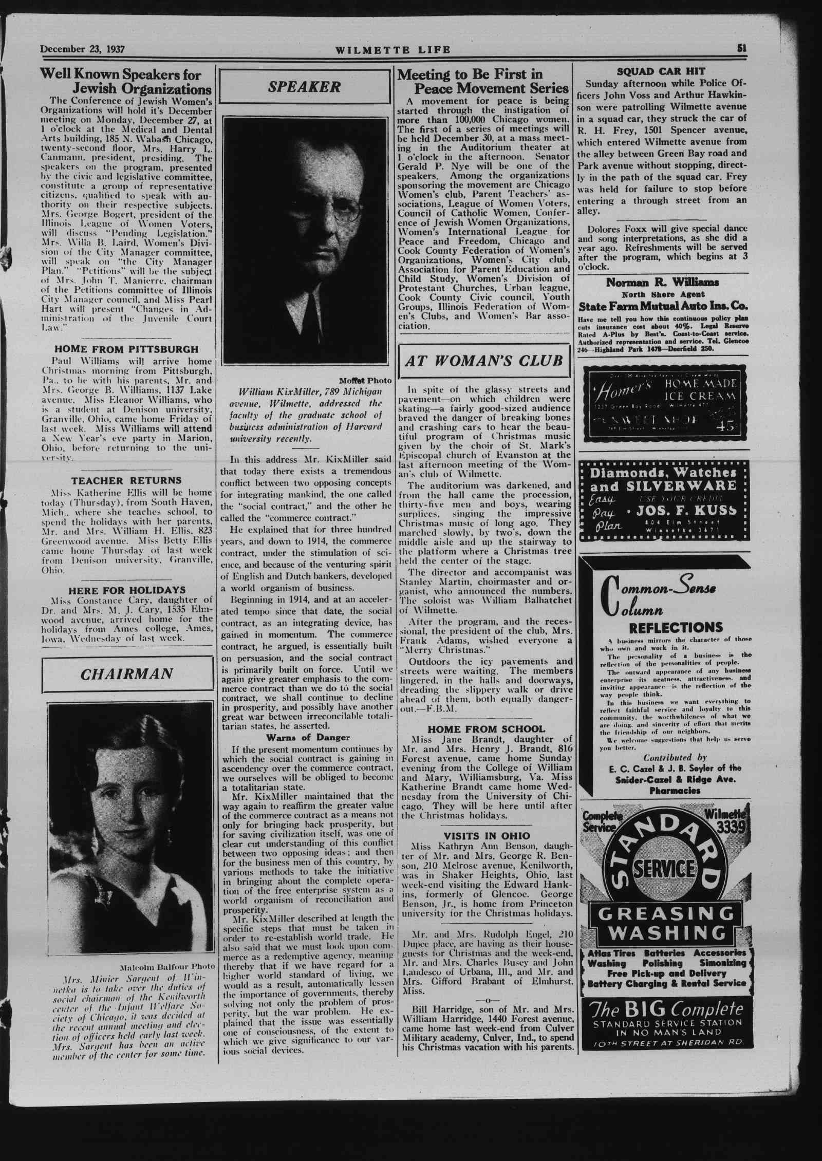 Wilmette Life (Wilmette, Illinois), 23 Dec 1937