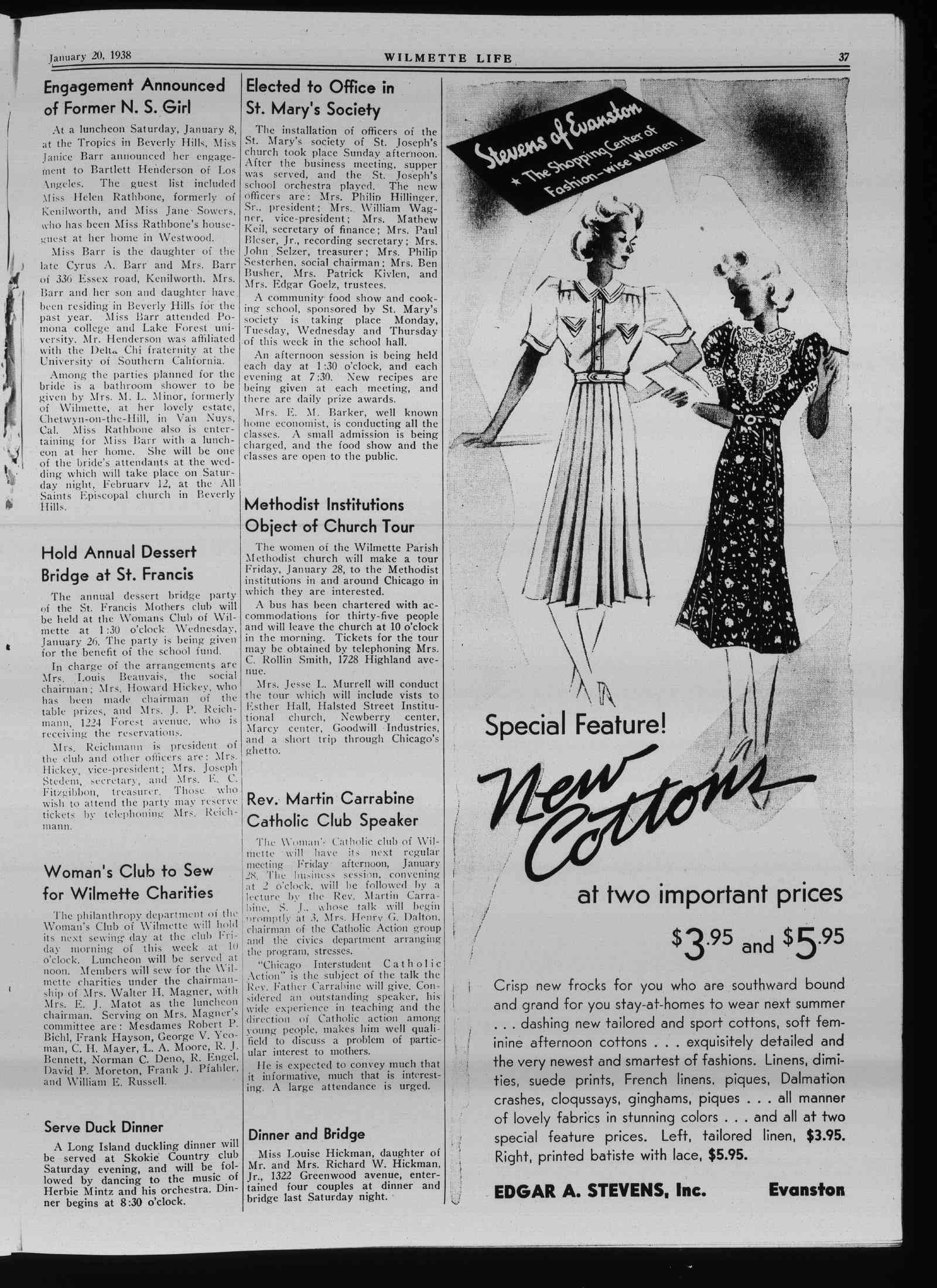 Wilmette Life (Wilmette, Illinois), 20 Jan 1938