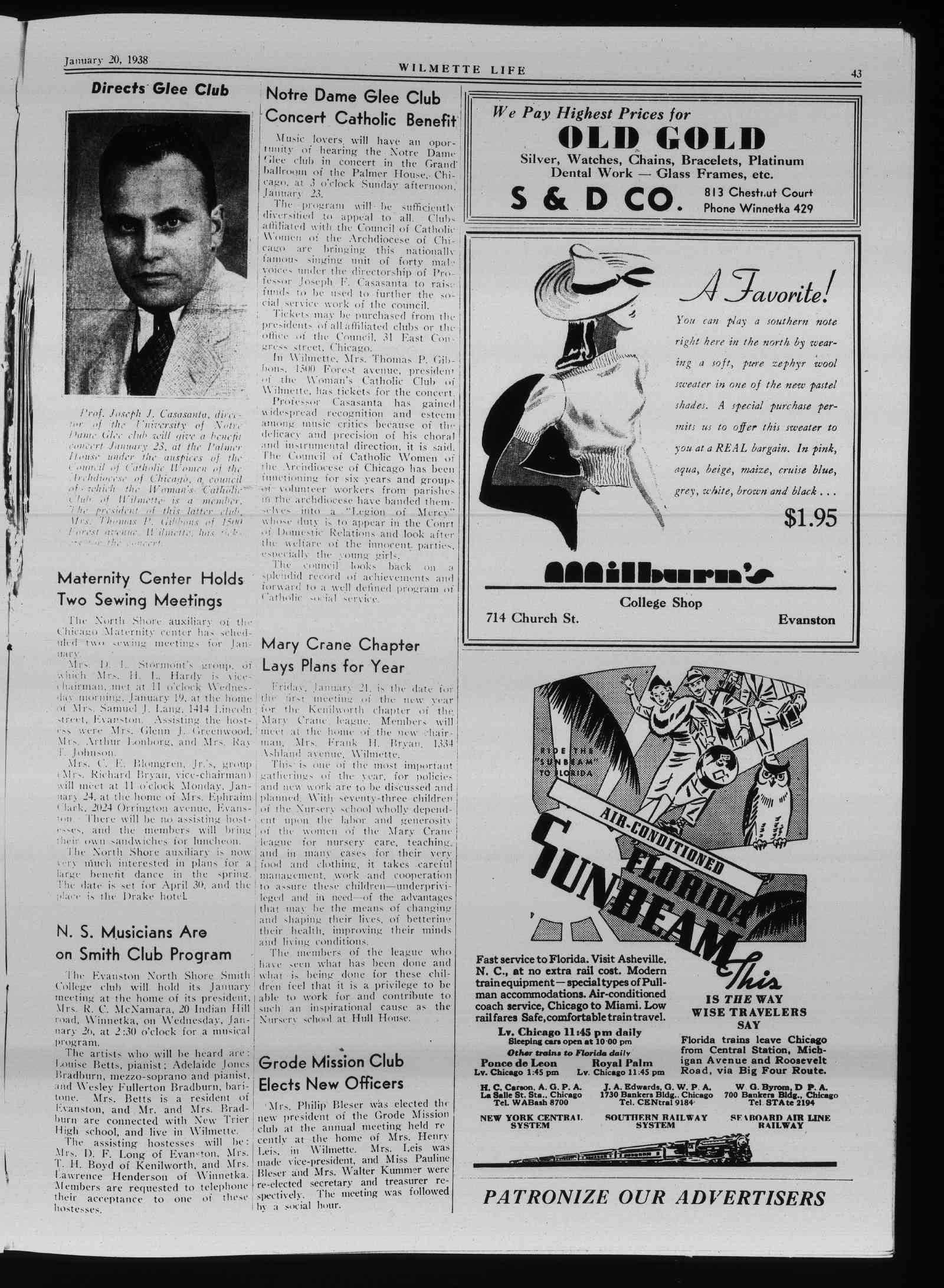 Wilmette Life (Wilmette, Illinois), 20 Jan 1938
