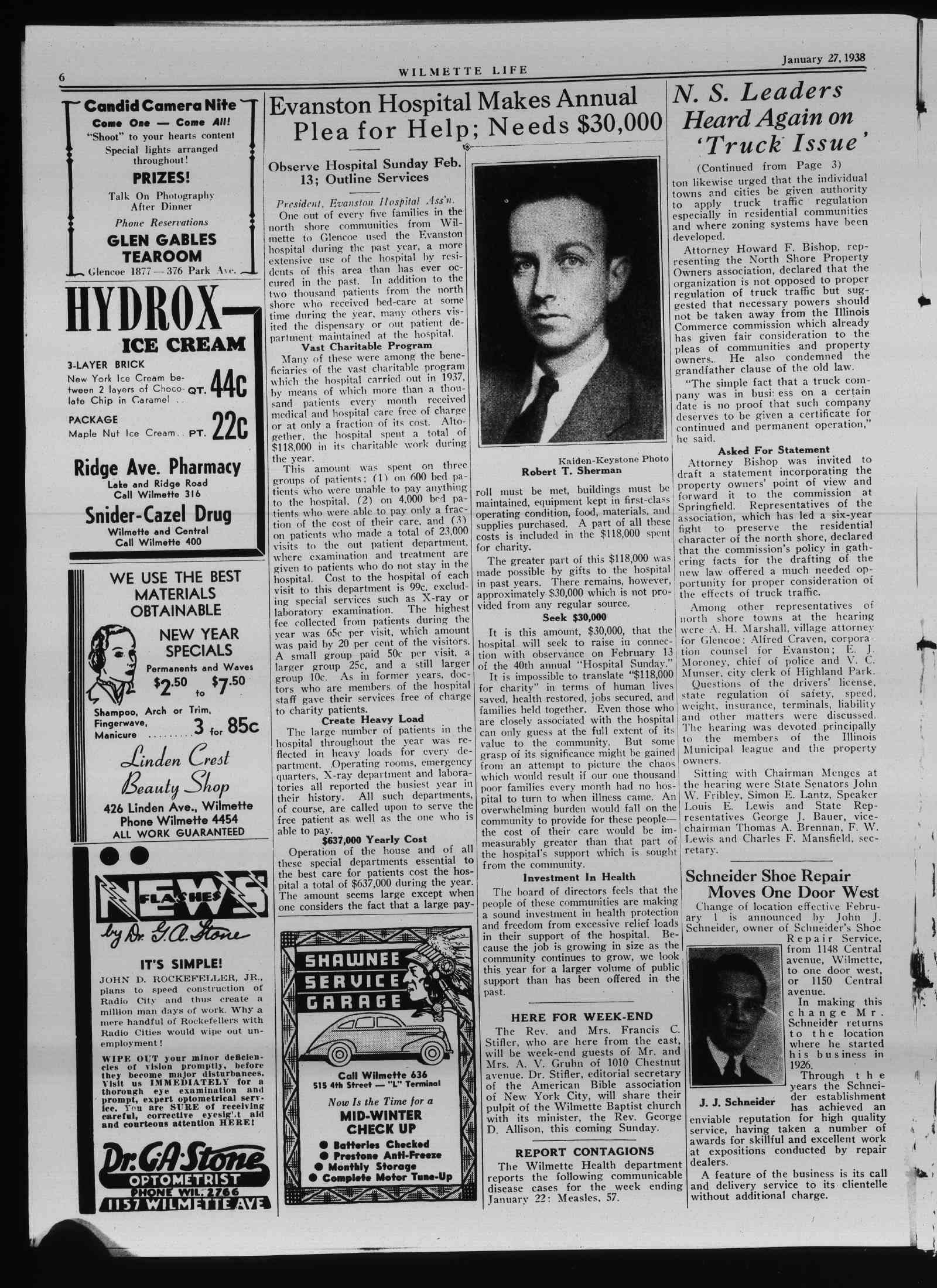 Wilmette Life (Wilmette, Illinois), 27 Jan 1938