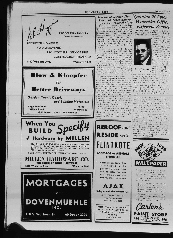 Wilmette Life (Wilmette, Illinois), 27 Jan 1938
