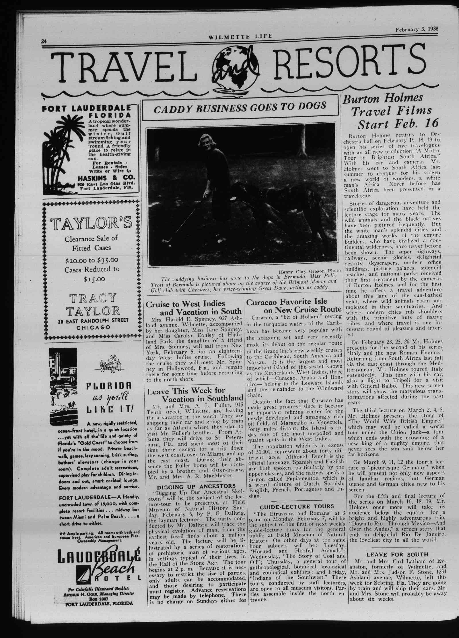 Wilmette Life (Wilmette, Illinois), 3 Feb 1938