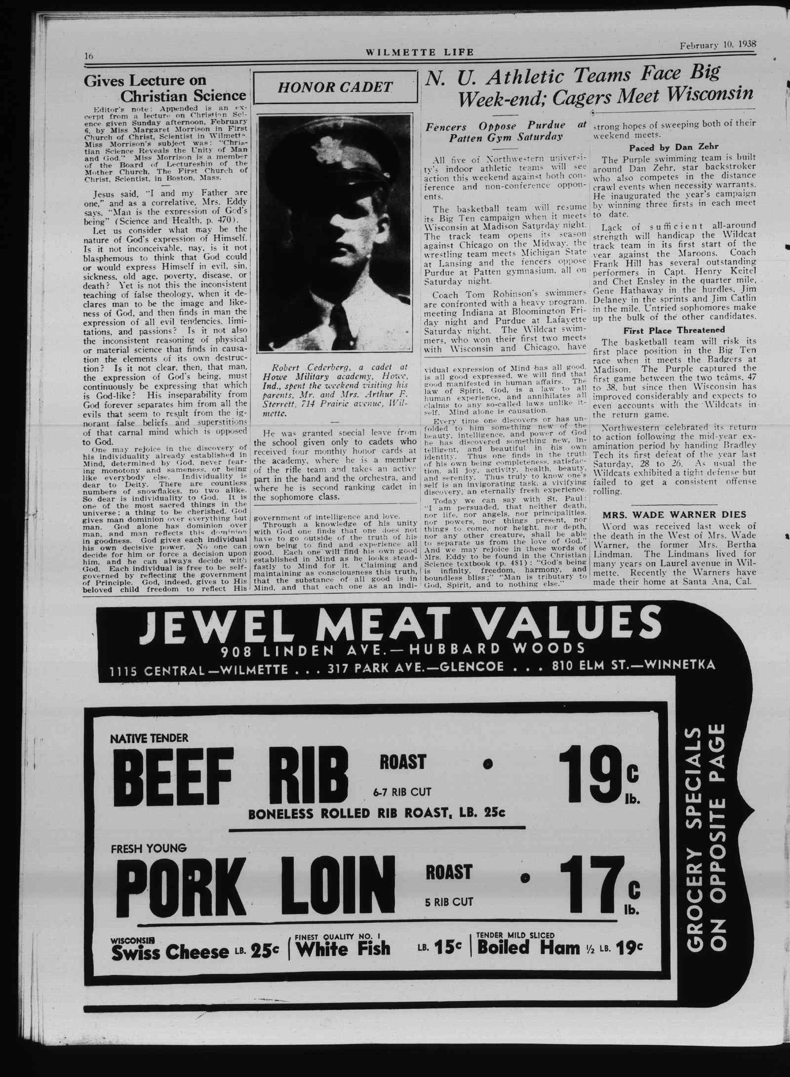 Wilmette Life (Wilmette, Illinois), 10 Feb 1938