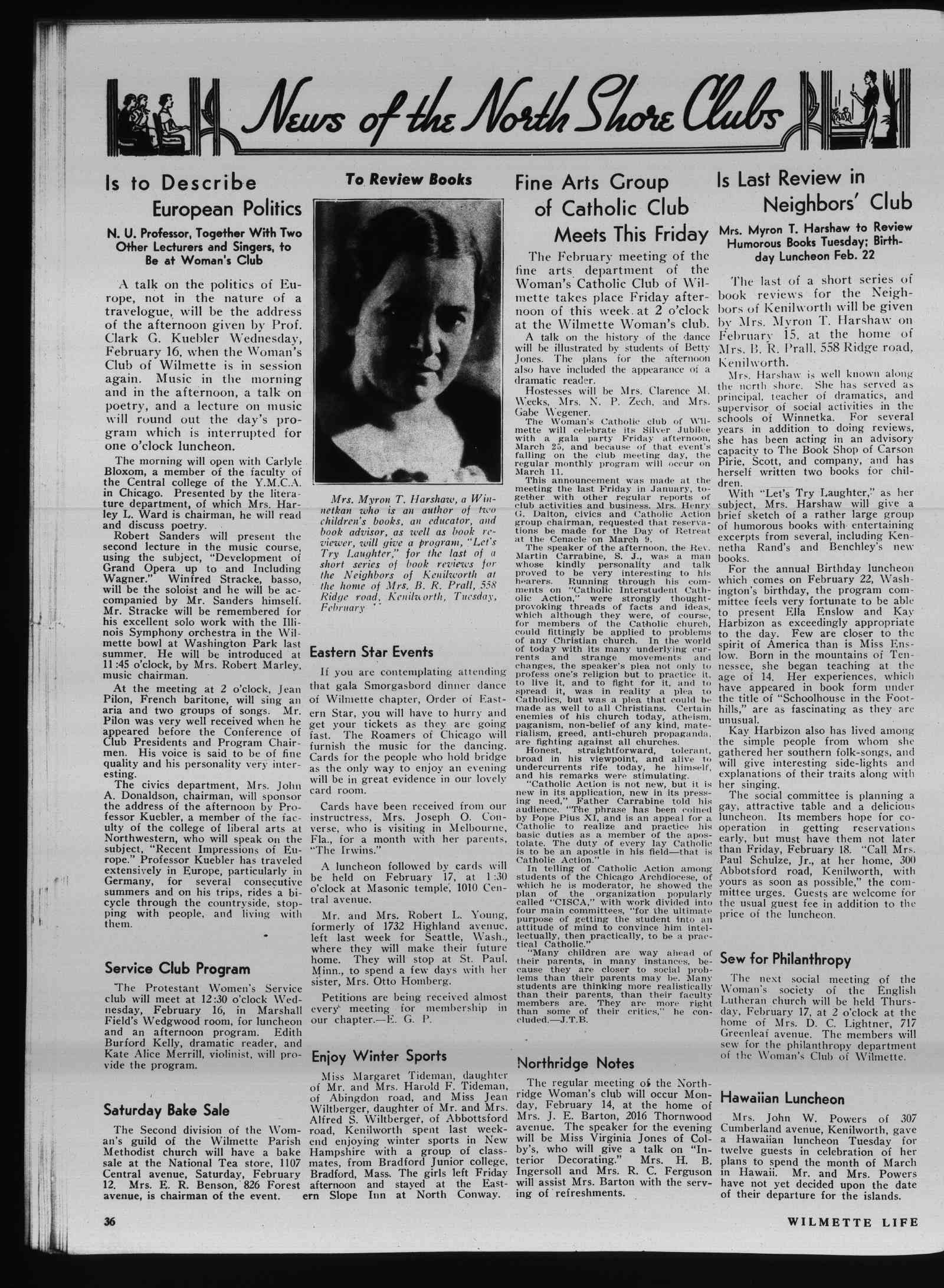 Wilmette Life (Wilmette, Illinois), 10 Feb 1938