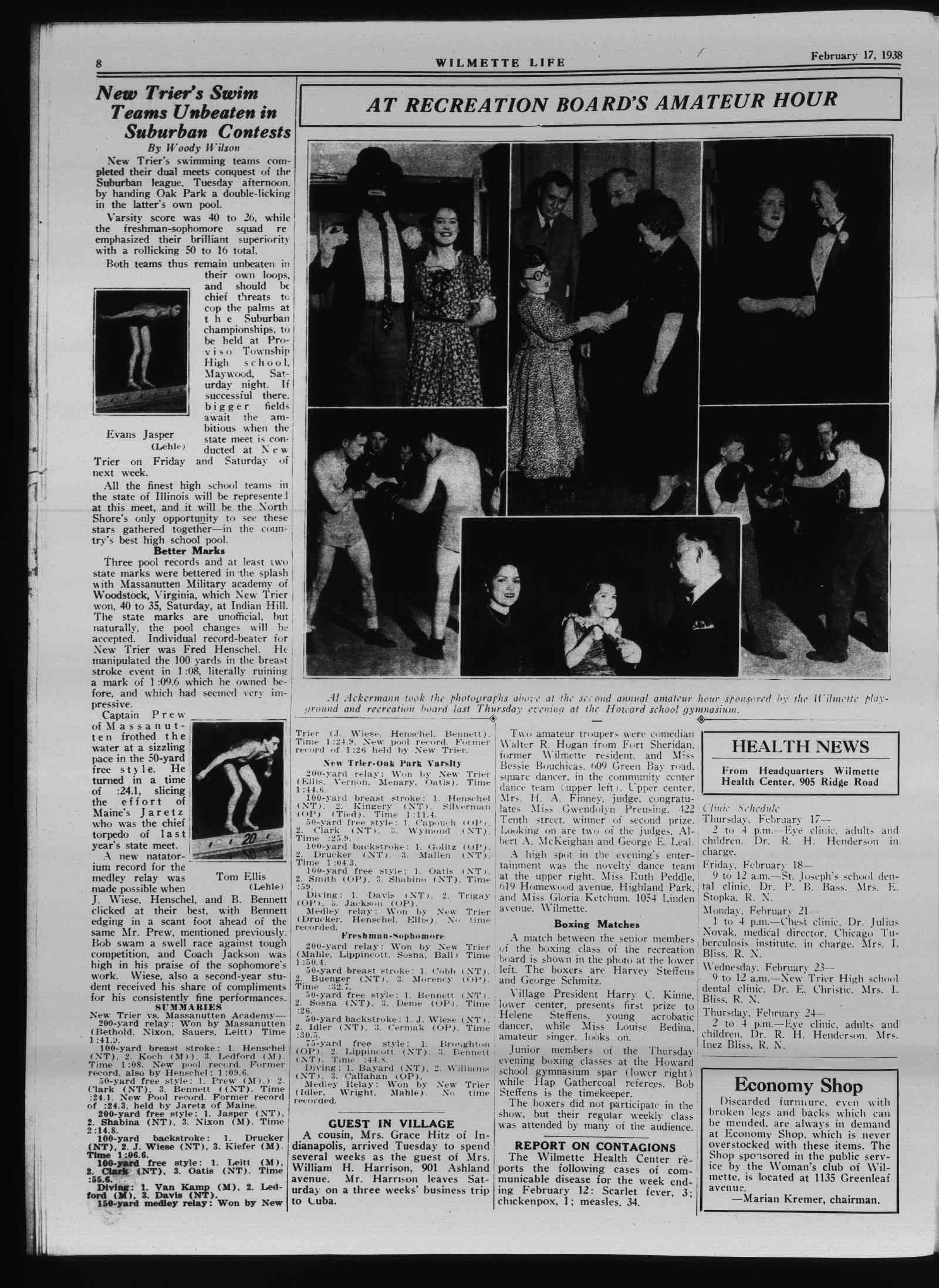 Wilmette Life (Wilmette, Illinois), 17 Feb 1938