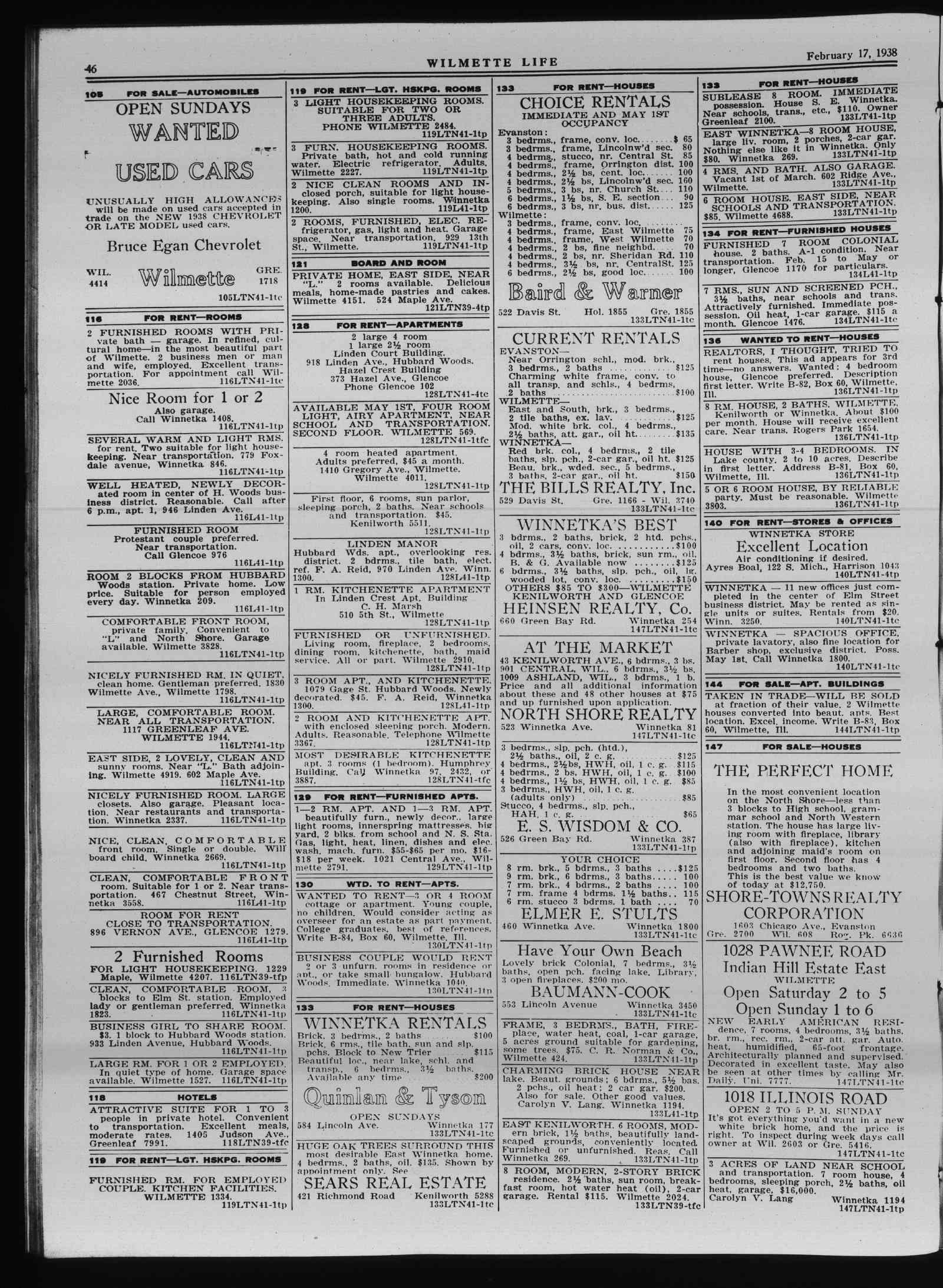 Wilmette Life (Wilmette, Illinois), 17 Feb 1938