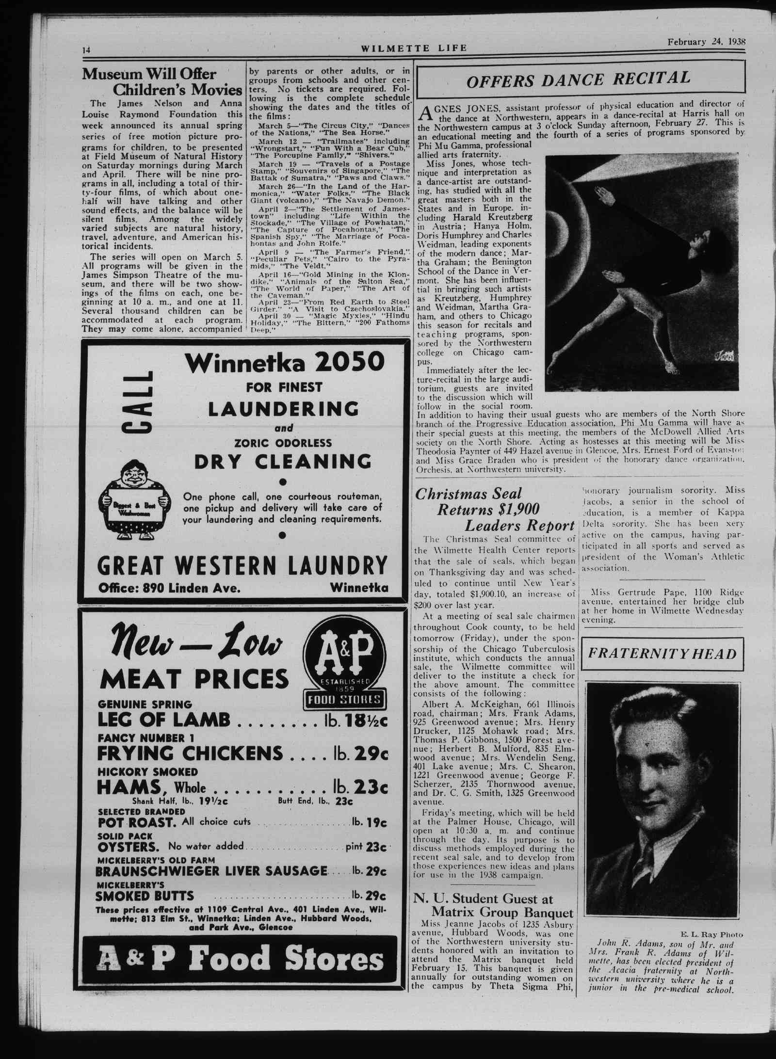 Wilmette Life (Wilmette, Illinois), 24 Feb 1938