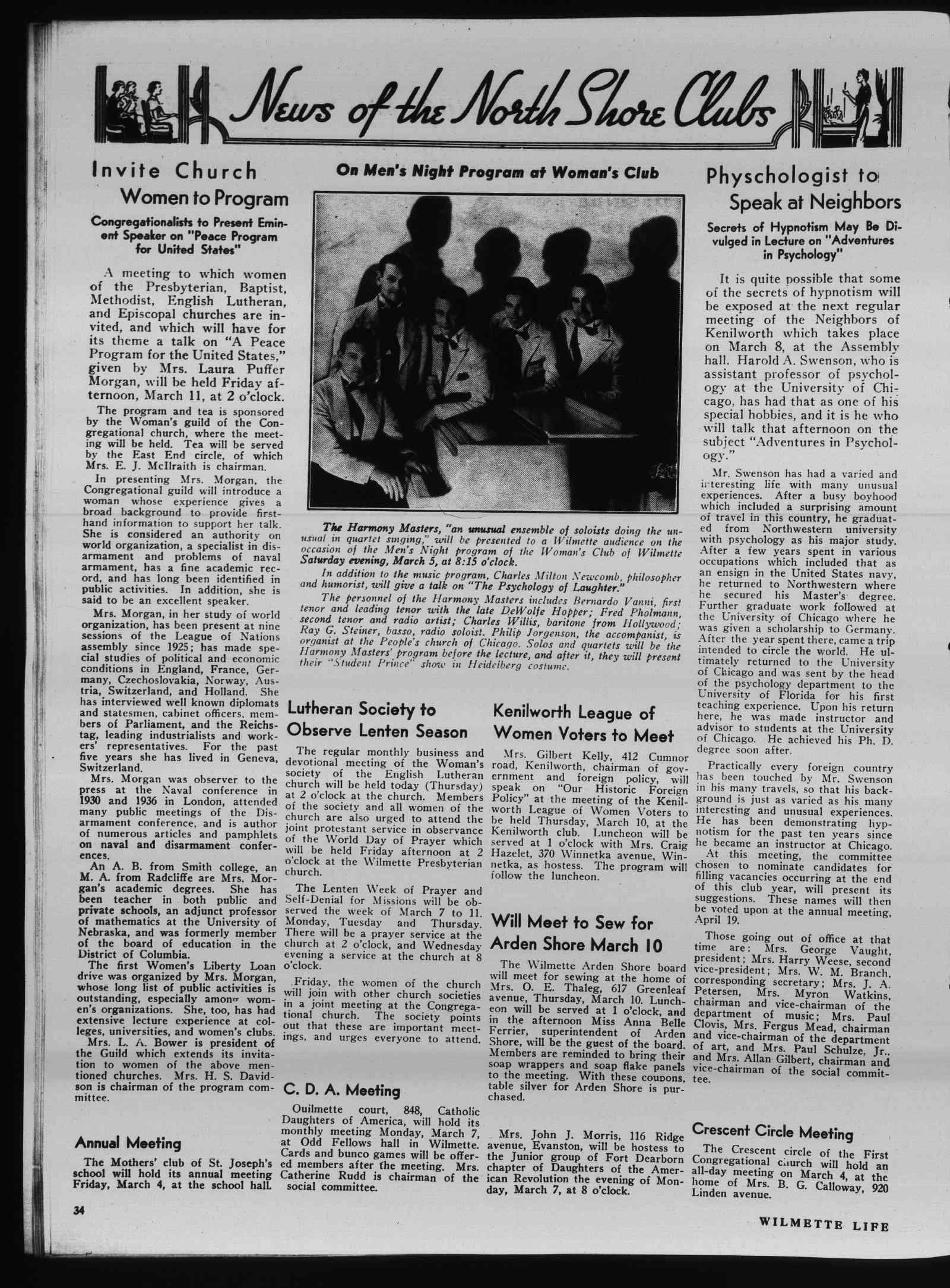Wilmette Life (Wilmette, Illinois), 3 Mar 1938