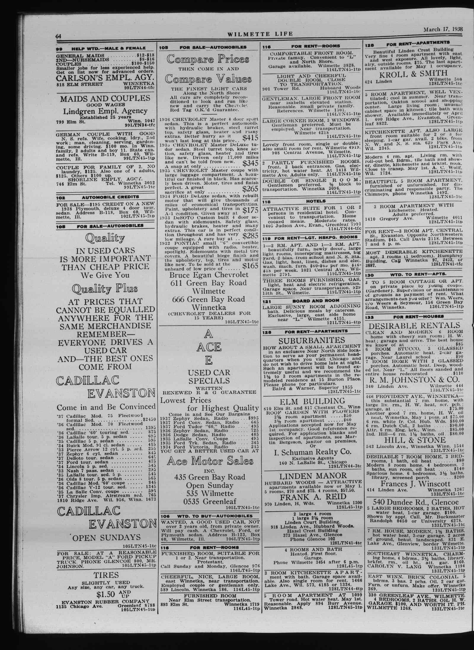 Wilmette Life (Wilmette, Illinois), 17 Mar 1938