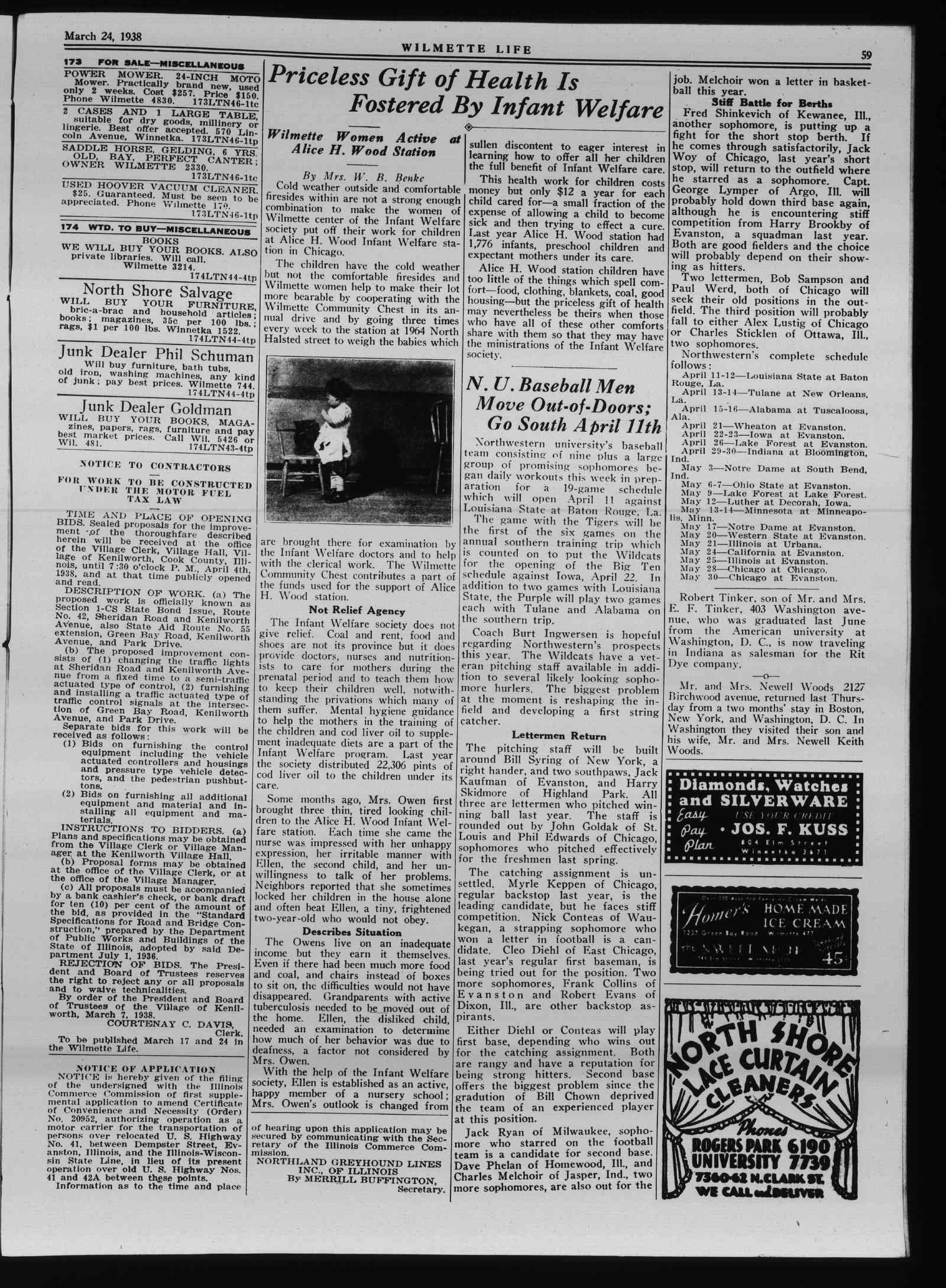 Wilmette Life (Wilmette, Illinois), 24 Mar 1938