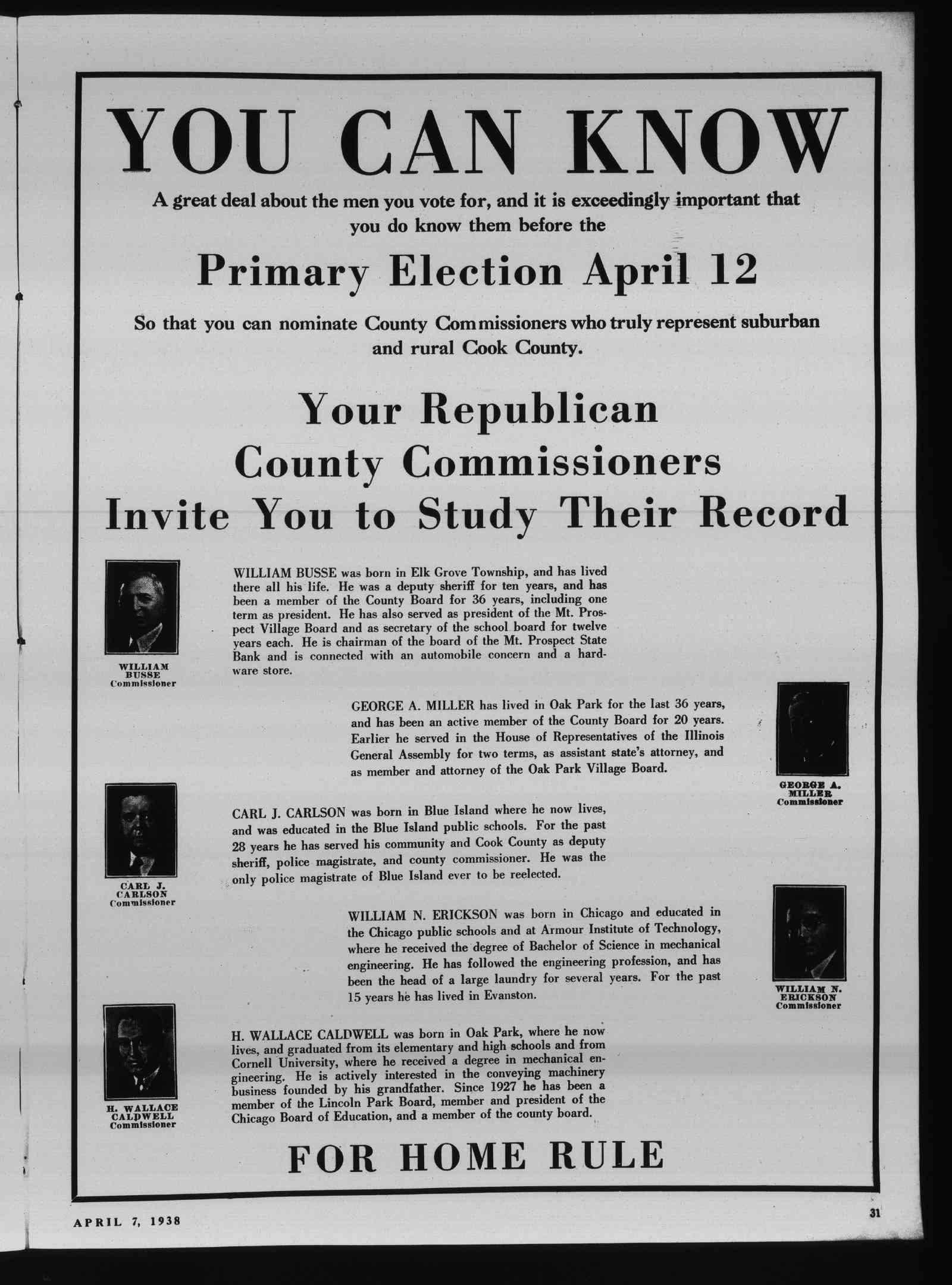 Wilmette Life (Wilmette, Illinois), 7 Apr 1938
