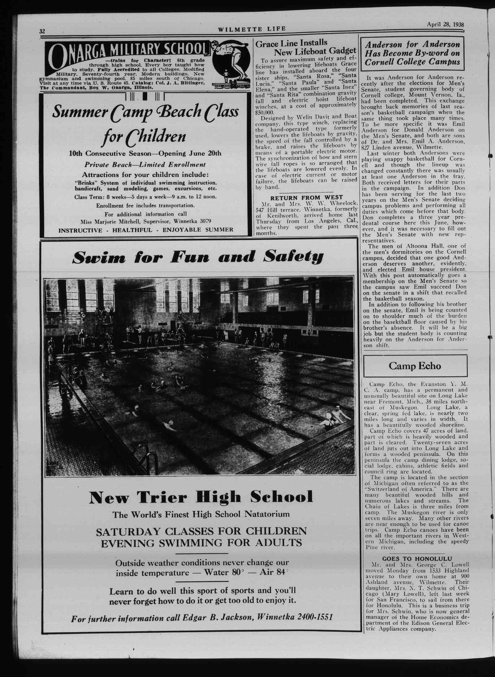 Wilmette Life (Wilmette, Illinois), 28 Apr 1938