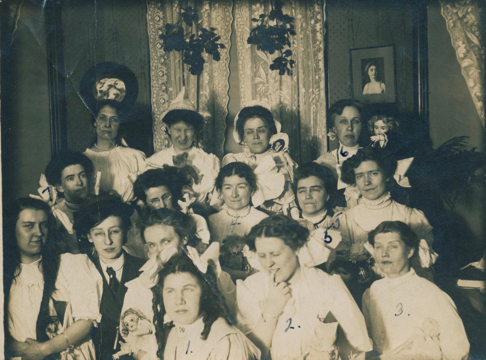 Party at Bertha Wheelock's home