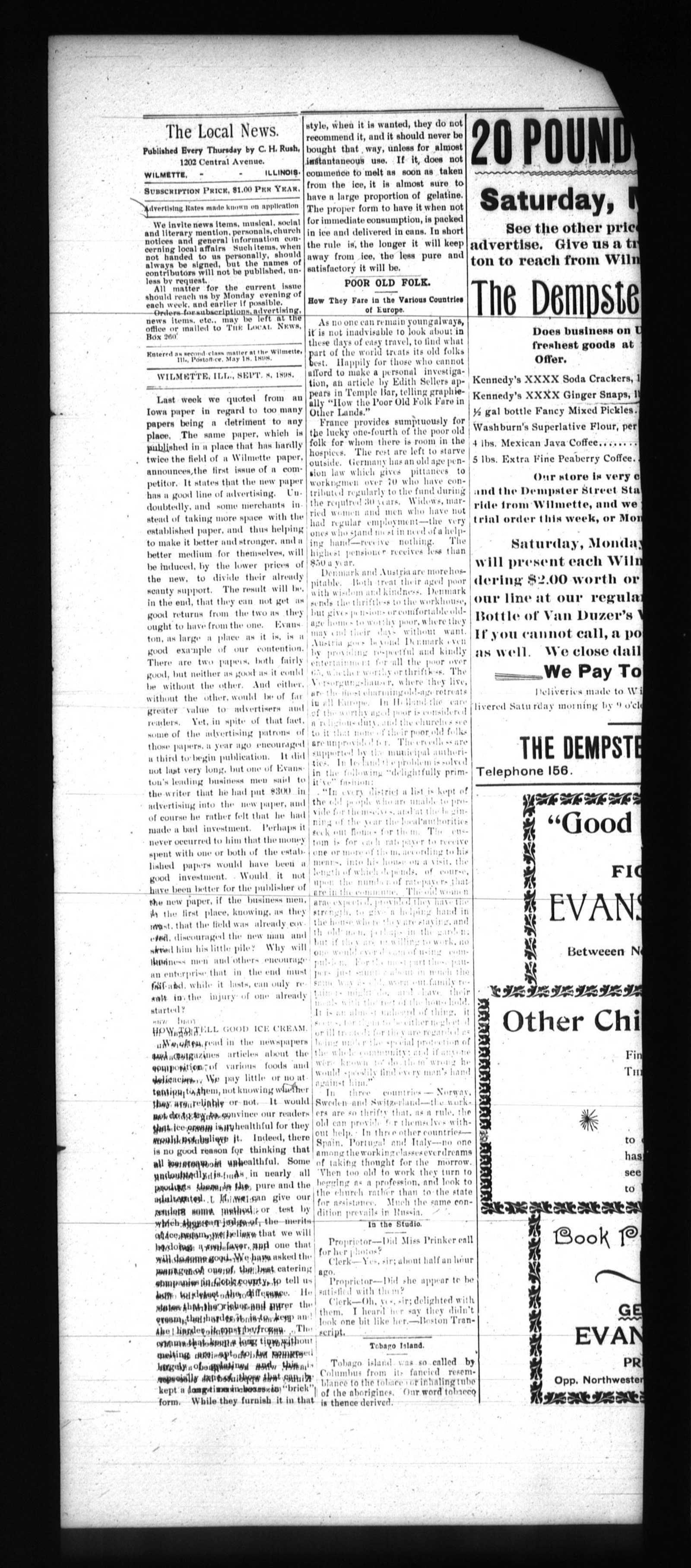 Local News, 8 Sep 1898