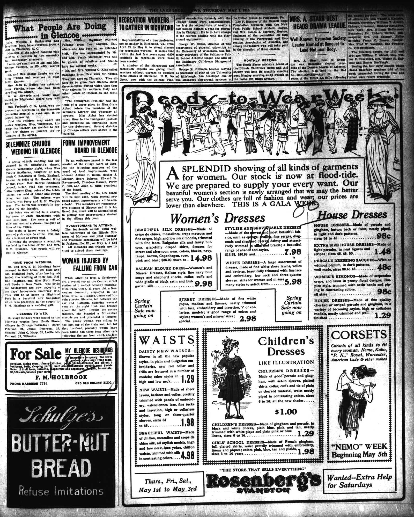 Lake Shore News (Wilmette, Illinois), 1 May 1913