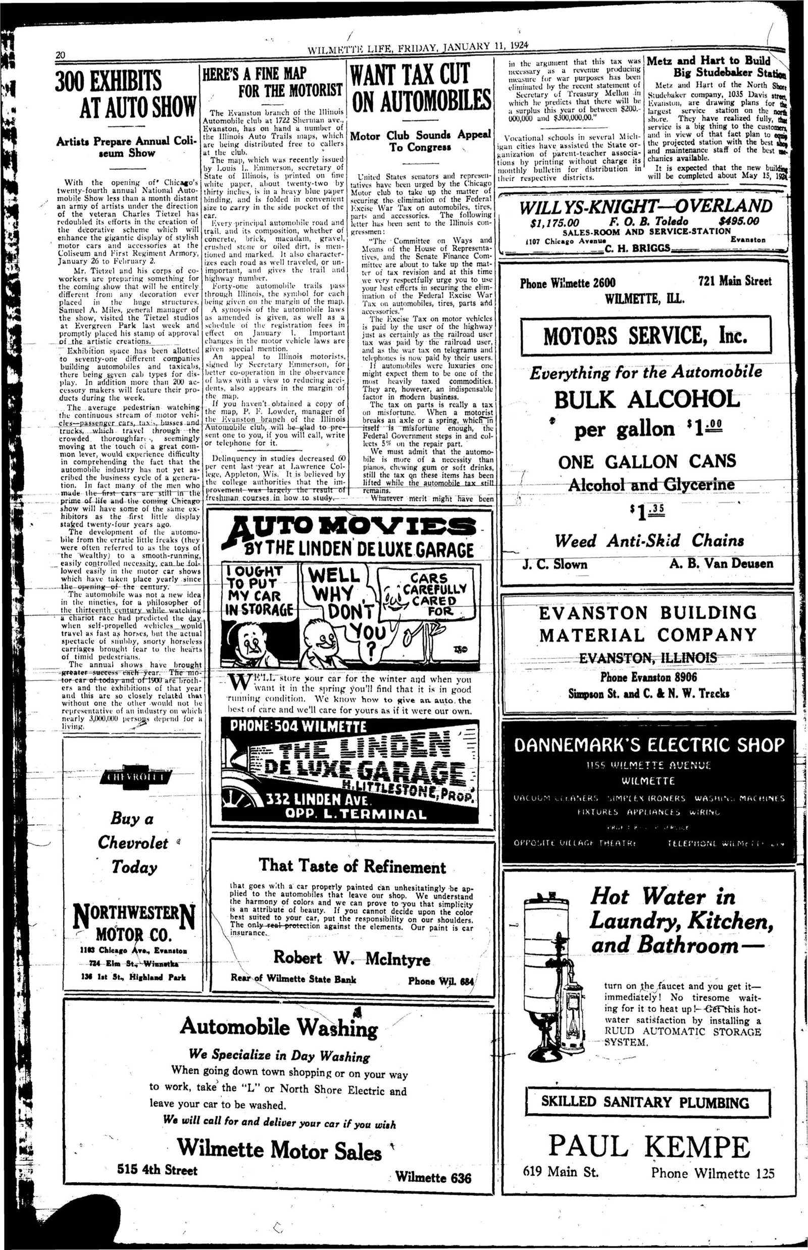 Wilmette Life (Wilmette, Illinois), 11 Jan 1924