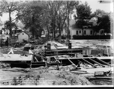 Wilmette Public Library construction No. 5