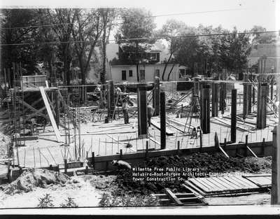Wilmette Public Library construction No. 7
