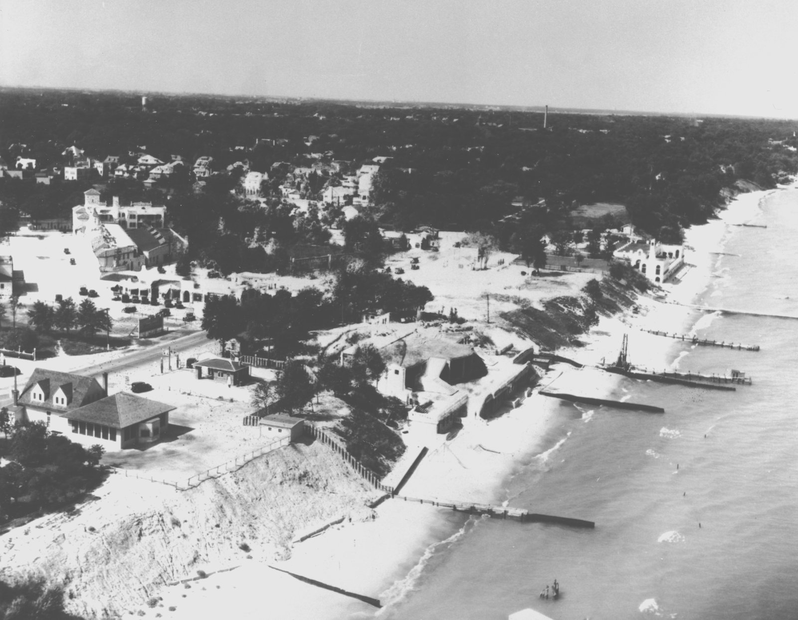 Aerial view of No Man's Land, 1928