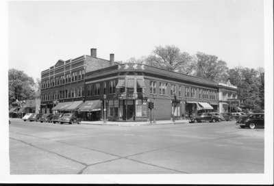 Northeast corner Wilmette and Central Avenues, June 1948