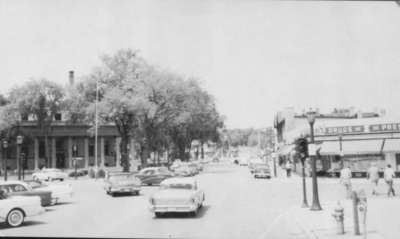 Intersection Central and Wilmette Avenues about 1960