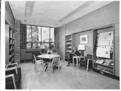 Wilmette Public Library Adult Quiet Room 1952