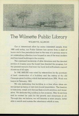 Program for Library Dedication 1951