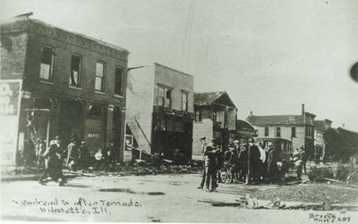 View of Wilmette after the Palm Sunday Tornado on March 28, 1920, No.1