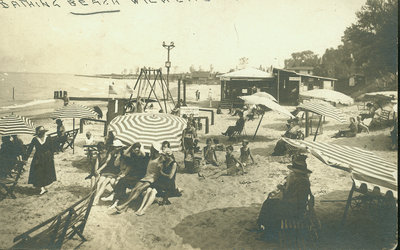 Beach at Wilmette about 1918