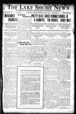 Lake Shore News (Wilmette, Illinois), 8 May 1912