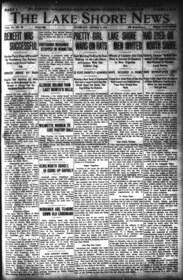 Lake Shore News (Wilmette, Illinois), 8 Aug 1912